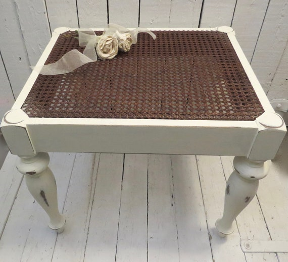 Marvelous Farmhouse Bench Vintage Bench Rustic Bench White Bench Cane Seat Bench Cottage Decor Fixer Upper Home Style Distressed Salvaged Bench Gmtry Best Dining Table And Chair Ideas Images Gmtryco