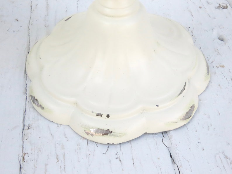 Cottage Candle Holders Shabby Chic Candles Ornate Candles Vintage White Candlesticks Rustic Candle Holders Farmhouse Candlesticks