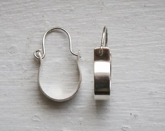 Wide Modern Hoop Earrings