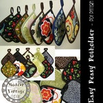 PDF Pattern and Tutorial - The EASY PEASY Potholder - Instant Download Sewing Pattern #114
