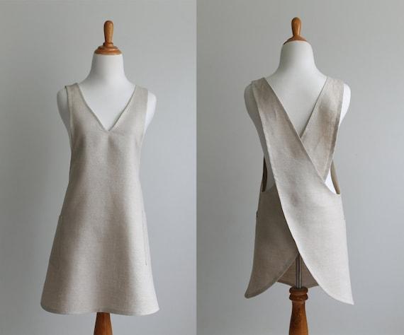 Japanese Apron Sewing Pattern PDF The BACK WRAP Instant Etsy Enchanting Apron Sewing Pattern