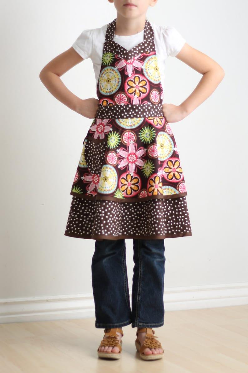 Child Pattern Luscious Layers Girls Apron PDF Sizes 3-12 217 image 0