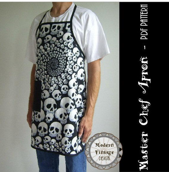 PDF Sewing Pattern and Tutorial Men\'s Full Apron in 3 | Etsy