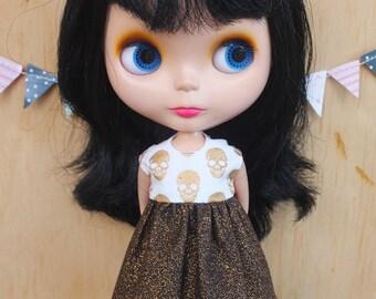 Blythe Dress - Sparkly Skulls