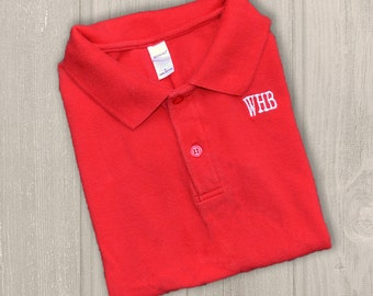 Boys Monogrammed Polo Shirt Personalized Golf Shirts For Etsy