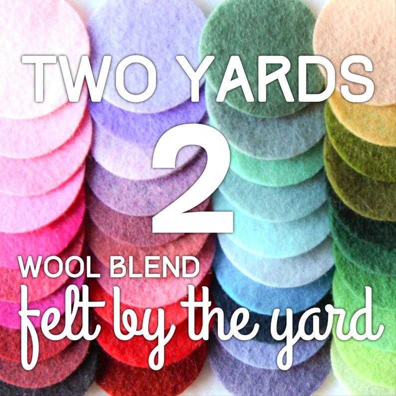 DIY Felt by the Yard Two Yards of Wool Blend Felt 2