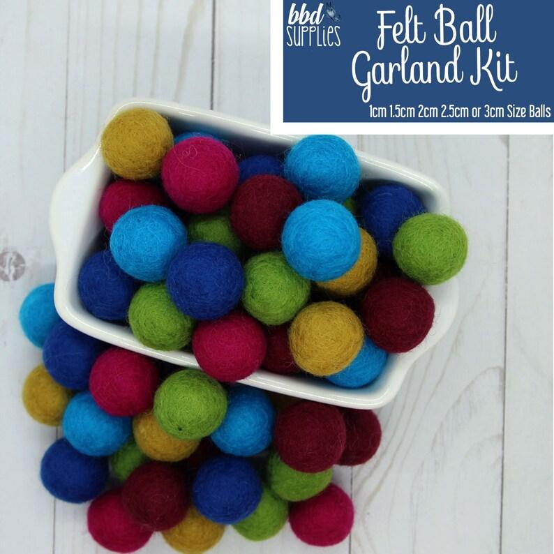 100/% Wool Felt Balls Turquoise Blue 100 Count 1cm 1.5cm 2cm // 2.5cm // 3cm