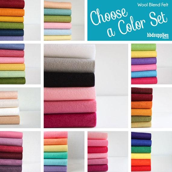 12 x 18 Pick 8 Wool Felt Blend Sheets you choose colors