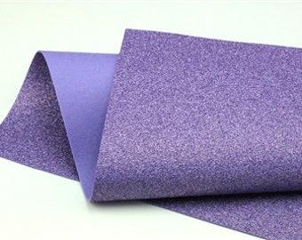 Purple Iris Glitter - Glitter Wool Felt Sheets - You choose size