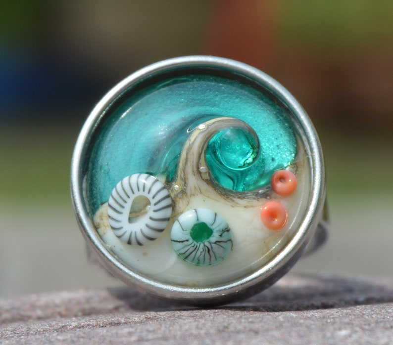 Snap Sea Inspired Collectable Artisan Handmade Lampwork Glass Snap Charm Chunk Popper Interchangeable Jewellery Button