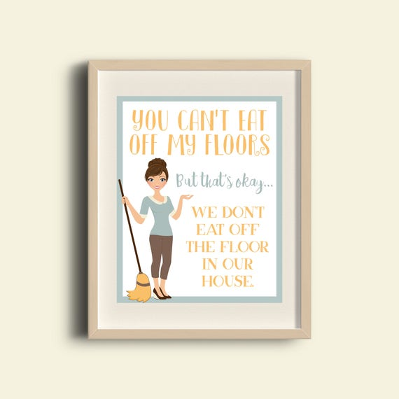 Clean House Messy House Funny Cute Quote Digital Image Poster Funny Decor Cute Decor Printable Diy Decor