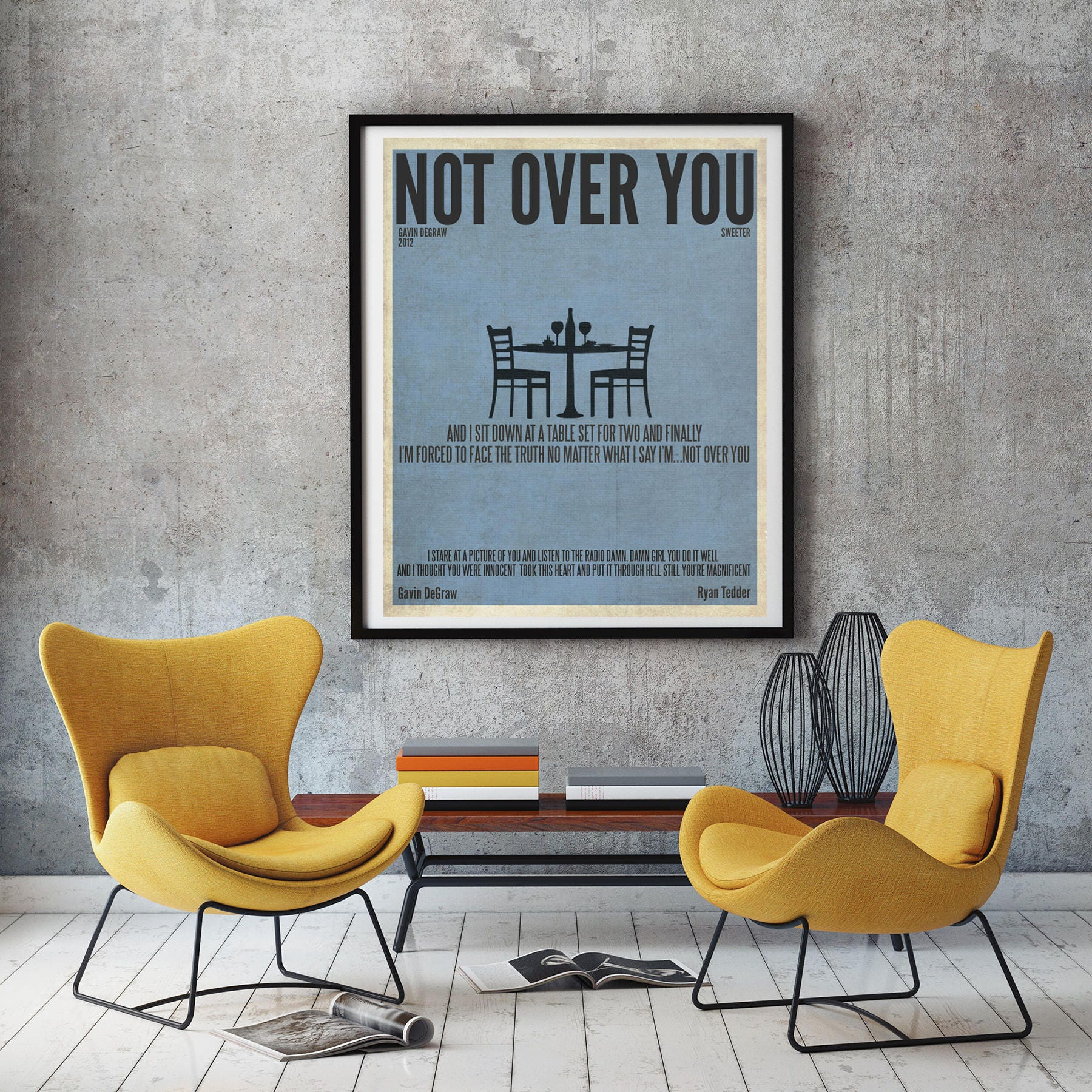 Not Over You Gavin DeGraw DIGITAL IMAGE Poster Music