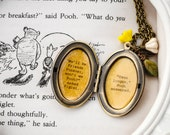 Women 39 s Locket - Friendship Jewelry - Winnie the Pooh Quote - Piglet and Pooh - We 39 ll be Friends Forever, won 39 t we Pooh - Even longer