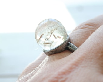 Dandelion Wish Adjustable Ring - Make a wish take a chance - Graduation Gift, Birthday Gift, New Venture, Leaving Home, Back to school
