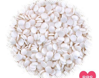 Shimmer White Polka Dot Sprinkles, Shimmer White Sequin Sprinkles, White Quins, White Sequins, Edible Sprinkles, Round Sprinkles
