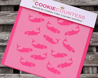 Fish Cookie Stencil, Fish Sugar Cookie Stencil, Fish Fondant Stencil, Cookie Countess Cookie Stencil, Fish Stencil