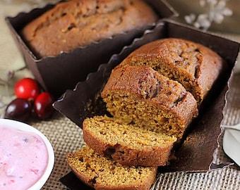 Mini Bread Loaf Baking Pans, Mini Brown Loaf Pans, Mini Baking Pans, Mini Pound Cake Pan, Mini Paper Loaf Pans, Disposable Loaf Pans (16ct)