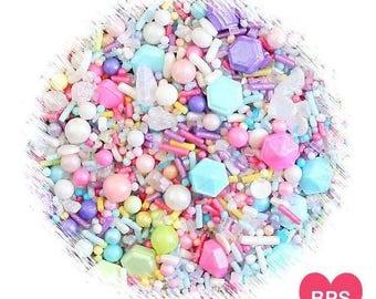 Sprinklefetti Sweet Pastel Sprinkles Mix, Edible Sprinkles, Pastel Rainbow Sprinkles, Sugar Pearls, Cake Sprinkles, Cupcake Sprinkles, Quins