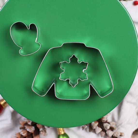 Christmas Cookie Cutter Ugly Sweater Cookie Cutter Set Christmas
