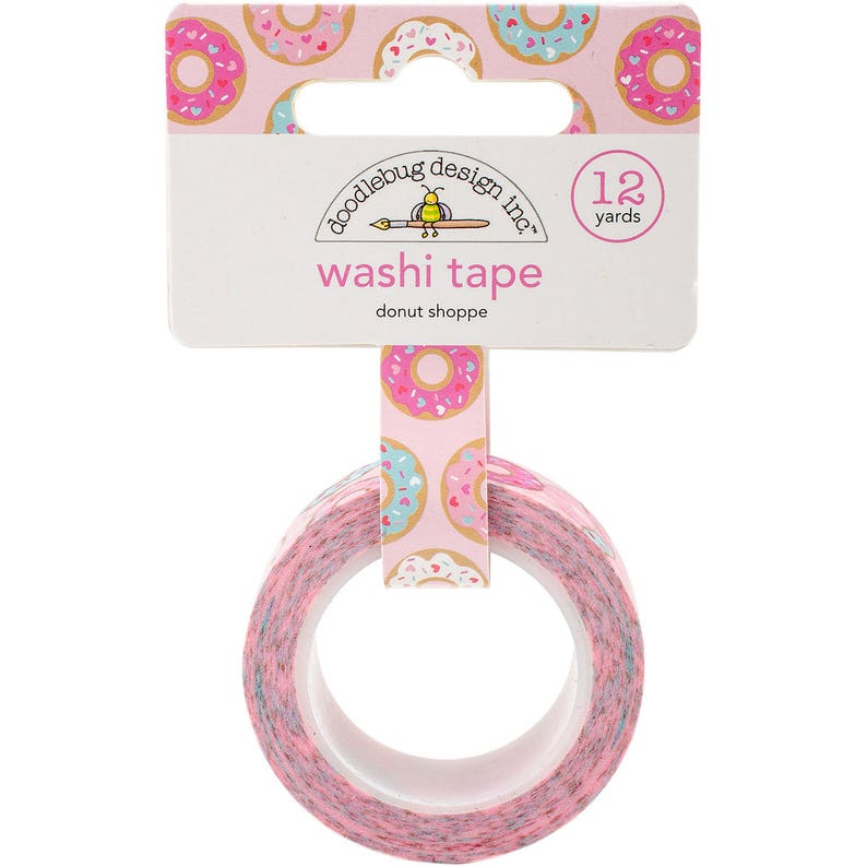 Pink Tape Packaging Supplies Doughnut Washi Tape Pastel Washi Tape Paper Crafting Donut with Sprinkles Washi Tape Donut Washi Tape
