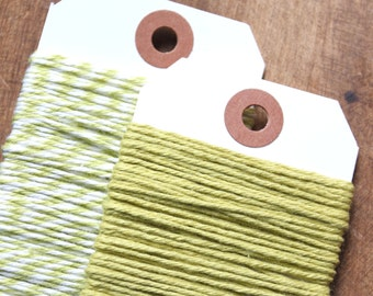 Lime Green Bakers Twine, Lime Green Twine, Green Bakers Twine, Christmas Gift Wrap, Green Twine, Craft Twine, Packaging Twine (15 yds)