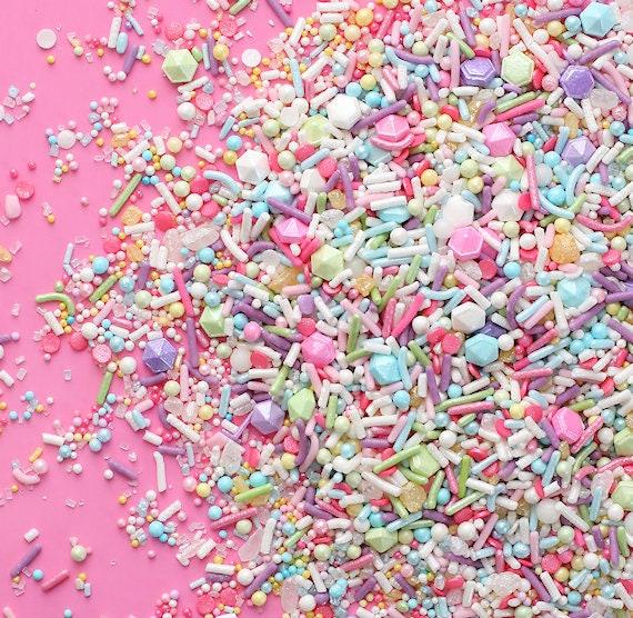 Sprinklefetti Sweet Pastel Sprinkles Mix, Edible Sprinkles