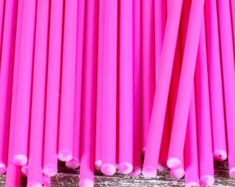 """6"""" Pink Lollipop Sticks, Pink Cake Pop Sticks, Valentine's Cake Pop Sticks, Valentine's Lollipop Sticks, Sucker Sticks, Ballerina Party"""
