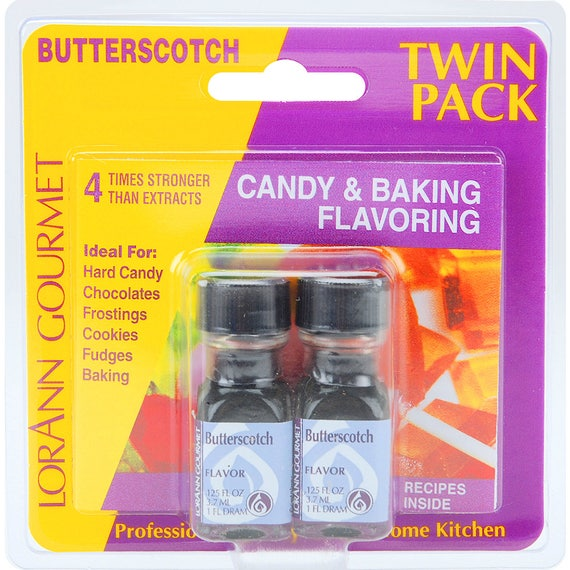 Butterscotch Candy Flavor, LorAnn Butterscotch Hard Candy Flavoring, Caramel Popcorn Flavoring, Candy Making, Candy Flavoring (twin pack)