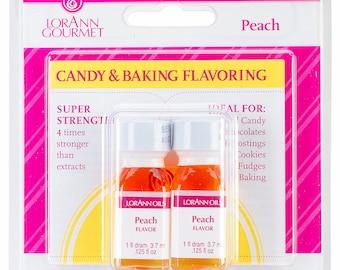 LorAnn Peach Flavor, Peach Hard Candy Flavoring, Peach Icing Flavoring, Peach Concentrated Flavoring, Peach Flavor (1 Dram - .125 oz)