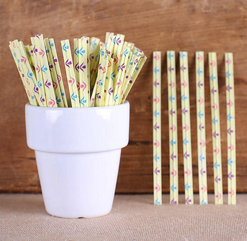 100 Wedding Twist Ties Easter Twist Ties Spring Flower Twist Ties Cellophane Bag Ties Spring Twist Ties Candy Buffet Ties