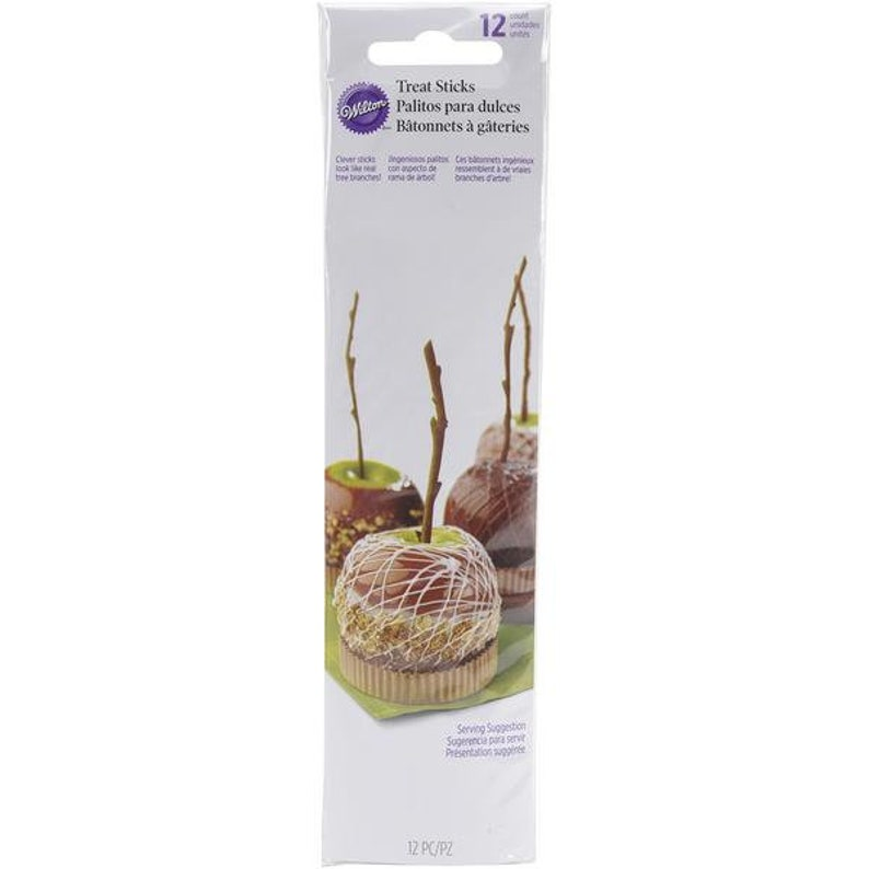 Wilton Branch Sticks Candy Apple Sticks Caramel Apple Sticks Reusable Apple Sticks Treat Sticks Cake Pop Sticks Fall Baking