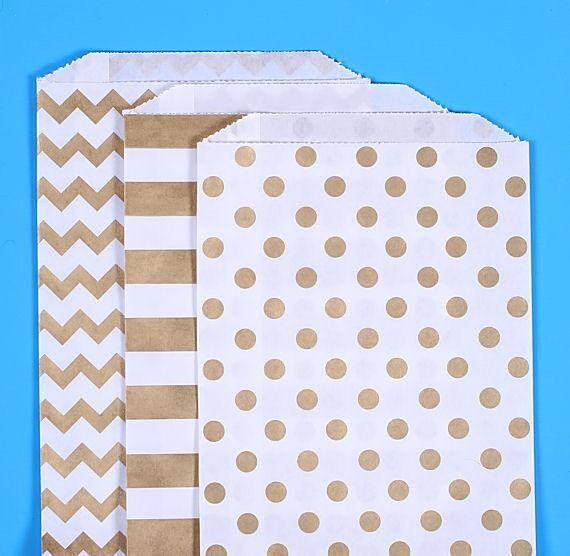 Medium Gold Favor Bags Gold Wedding Favor Bags Paper Bags Sweet