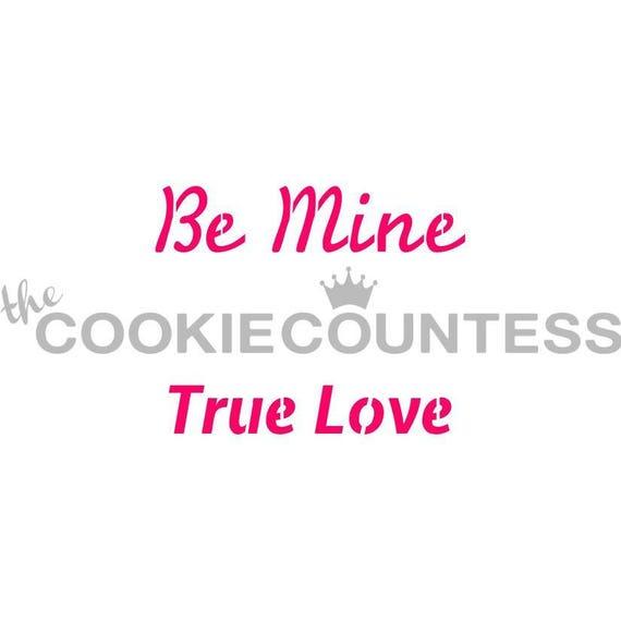 Mine Cookie Schablone sein Zucker Valentines