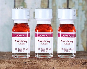 LorAnn Strawberry Oil, Strawberry Hard Candy Flavoring, Strawberry Icing Flavoring, Concentrated Strawberry Flavoring (1 Dram - .125 oz)