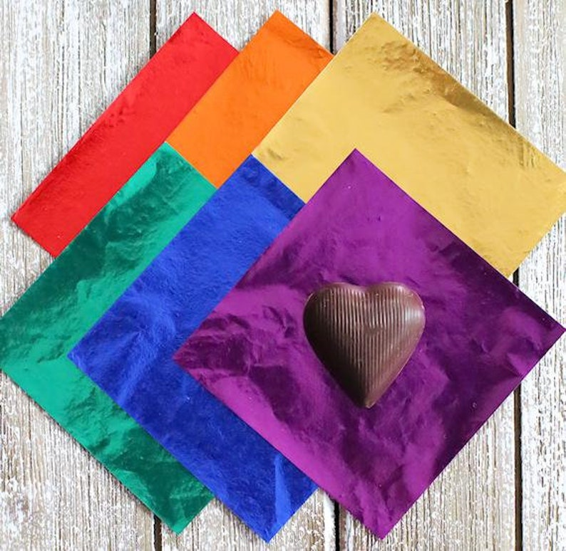 Rainbow Foil Candy Bar Wrappers Rainbow Confectionery Foil Classic Rainbow Foil Candy Wrappers Rainbow Candy Wrappers Lollipop Wrappers