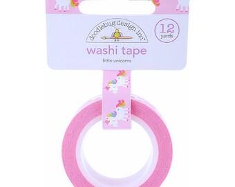 Unicorn Washi Tape, Pink Washi Tape, Doodlebug Unicorn Tape, Paper Crafting, Unicorn Party Favor, Rainbow Party, Party Favors, Gift Wrap