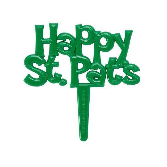 St. Patrick's Day Cupcake Picks, Happy St. Pat's Cupcake Topper, Saint Patrick's Cupcake Picks, Cupcake Decorations, Saint Patrick's Day