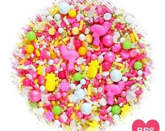 Sprinklefetti Tropical Sprinkles Mix, Flamingo Sprinkles, Pineapple Sprinkles, Edible Sprinkles, Cake Sprinkles, Cupcake Sprinkles