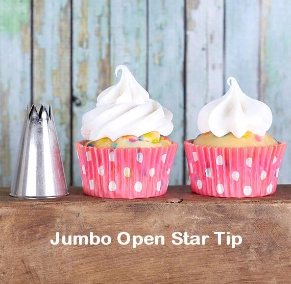 Jumbo Open Star Frosting Tip, Jumbo Open Star Decorating Tube, Jumbo Star Icing Nozzle, Jumbo Star Pastry Tube, Star Pastry Tip