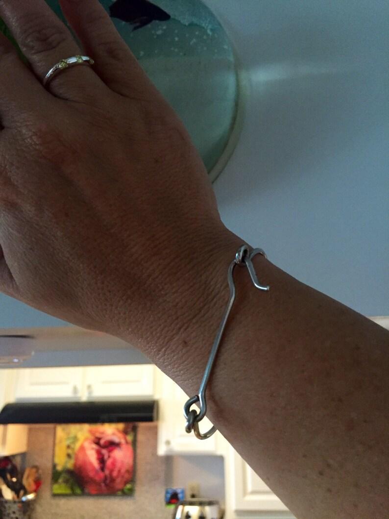 Sterling silver Custom Gate Latch Lock Bracelet Made to Order