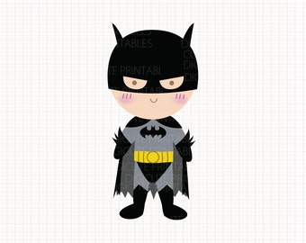 Film Inspired Batman Digital CLIP ARTS personal and commercial use for invitations, cupcake toppers, party supplies