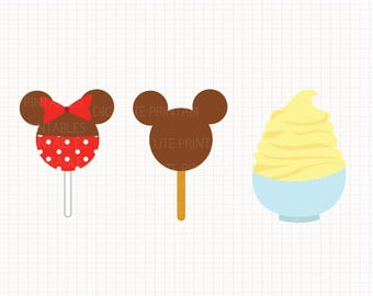 Disney Inspired Snacks Digital CLIP ARTS personal and commercial use for invitations, cupcake toppers, cards
