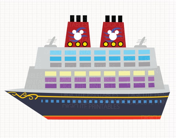 Disney Cruise Ship Digital Clip Arts Personal And Commercial Etsy
