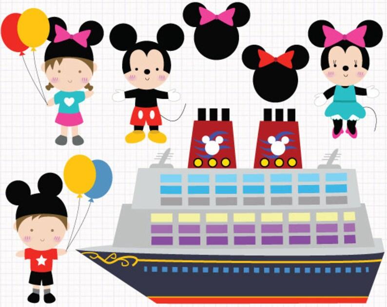 Disney Cruise Digital Clip Arts Private Und Gewerbliche Verwenden Für Einladungen Cupcake Toppers Geburtstagskarten Party Zubehör