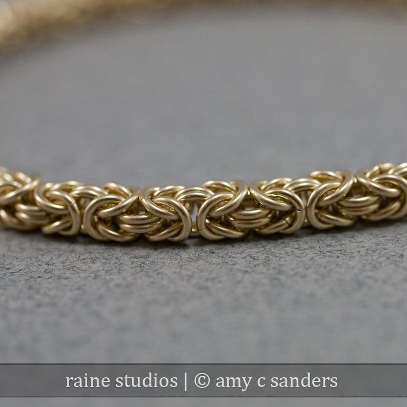 Delicate Golden Chain Bracelet  Thin 14k Gold Filled 20g image 0