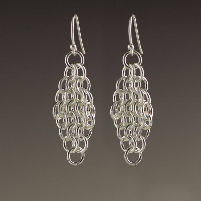 Sterling Silver Mesh Earrings  size 5 image 0