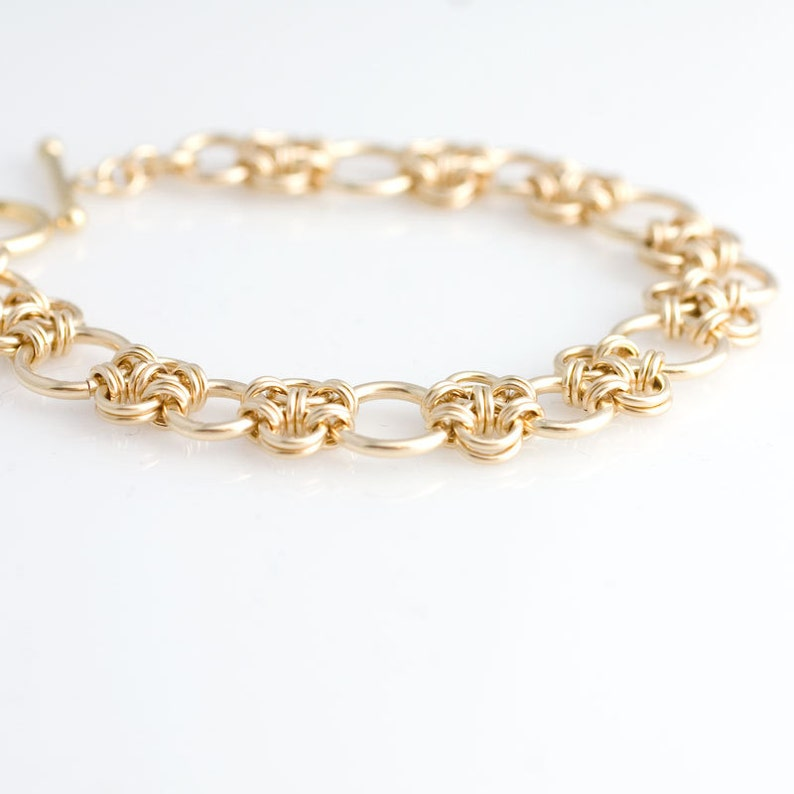 Enso Chainmaille Bracelet in Gold Filled image 0