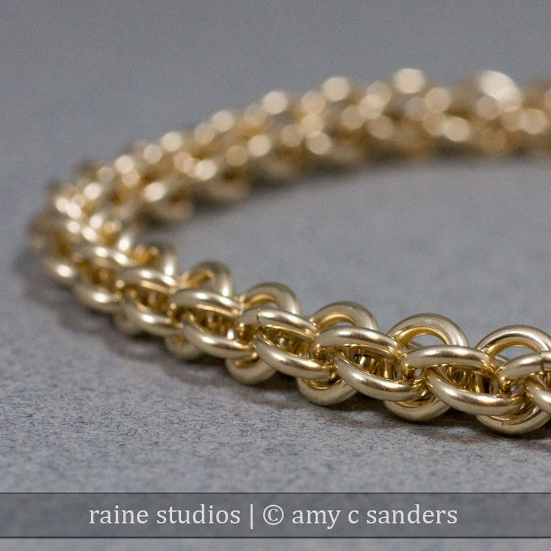 Out of Town 7/23-8/7 2019: Spiral Gold Chain Bracelet  18g image 0