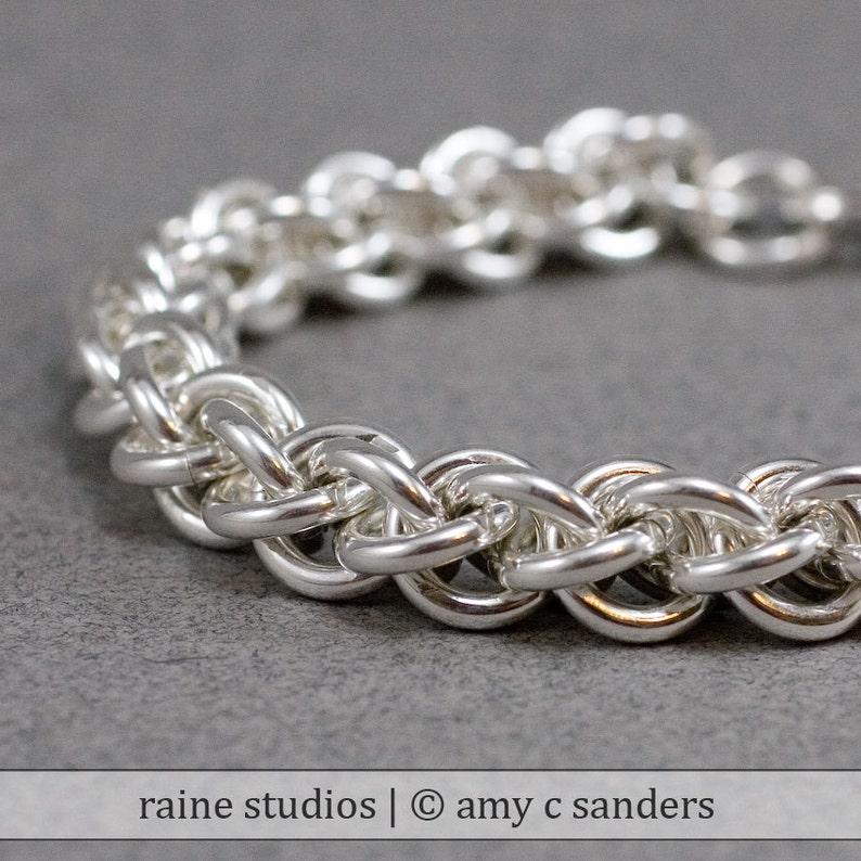 Sterling Rope Bracelet 12g Handmade Jens Pind Sterling Silver image 0