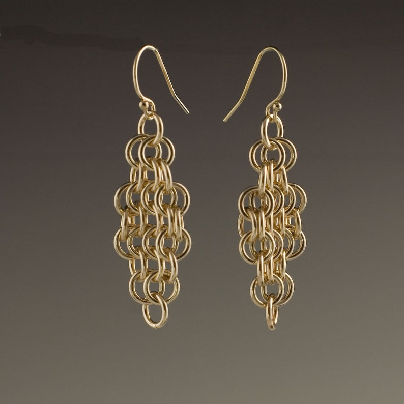 14k Gold Filled Mesh Earrings  size 5 image 0